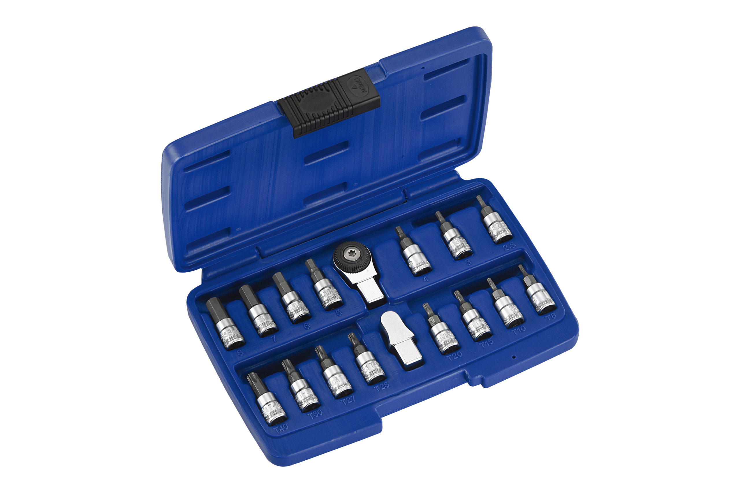 17PC Slim Insert & Ratchet Insert Bit Socket Set-1/4″ 9X12mm
